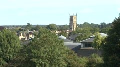 Rooftop view over Cirencester, Gloucestershire, UK. Stock Footage