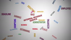 Internal Revenue Service Word Cloud (60fps) - stock footage