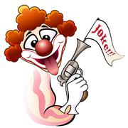 Clown with a gun Stock Illustration