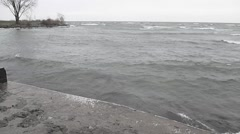 lake water tide incoming - stock footage