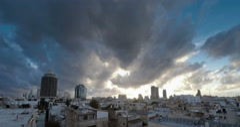 Tel Aviv city Israel winter sunset time lapse 4k Stock Footage