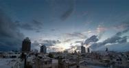 Stock Video Footage of Tel Aviv city Israel winter sunset time lapse 4k