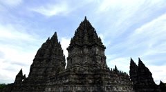 Prambanan Temple Close Up Timelapse 4K Stock Footage