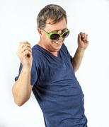 man performs cool rap - stock photo