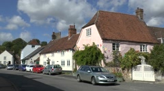 Colourful houses in Aldbourne, Wiltshire, UK. Stock Footage