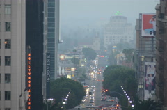 4K Traffic Timelapse in Hollywood and Vine Stock Footage