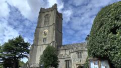 The parish church of Saint Michael in Aldbourne, Wiltshire, UK. Stock Footage