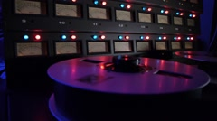 Tape spinning with meters Stock Footage