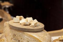 Pieces of cheese Stock Photos