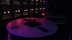 Stock Video Footage of analog tape reel spinning
