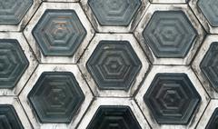 Hexagon windows Stock Photos