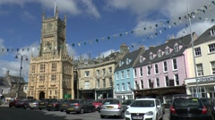 Church of St John the Baptist, Market Place, Cirencester, Gloucestershire, UK. - stock footage