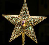 jewel encrusted star - stock photo