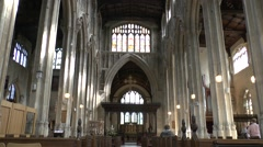 View inside the Church of St John the Baptist, Cirencester, Glos, UK. Stock Footage