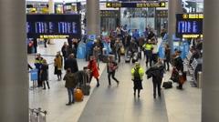 0599 UHD Copenhagen Airport. Kastrup Stock Footage