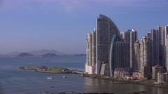 Panama City Trump Tower Hotel And Artificial Amador Islands 4K - stock footage