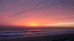 Sunrise Glow at an Atlantic Ocean Beach Stock Footage