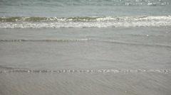 Calm waves of the Arabian Sea in India in Goa Stock Footage