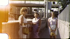 Tourists US Mexican Border Immigration 1960s Vintage Film Home Movie 8099 Stock Footage