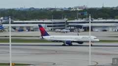 Delta taxi at Miami International Airport Stock Footage