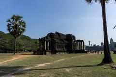 ankor wat temple - stock photo