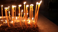 Candles in church dolly Stock Footage