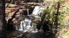 The Waterfall at Meadow Grounds Lake Stock Footage
