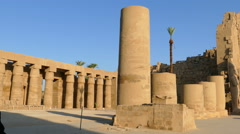 Ancient karnak temple in Luxor, Egypt Stock Footage