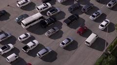 Panama City Traffic Car Jam On Highway At Morning 4K Stock Footage