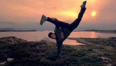 Capoeira dancer Stock Footage