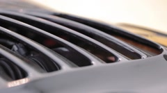 Back view of sport car Stock Footage