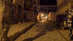 Walking in old Mexican town Stock Footage