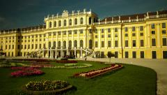 HYPERLAPSE long way backwards at castle Schoenbrunn in Vienna – Time lapse Stock Footage