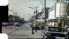 Juarez City Street US Mexico Border Vintage Film Home Movie 8101 Stock Footage