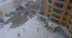ODESSA - DECEMBER 29: Snow storm came in to the city, view from above on Stock Footage