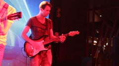 Shooting of the clip for rock band: rock concert. Stock Footage