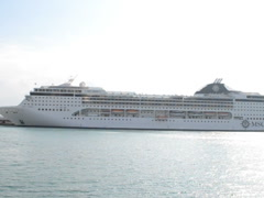 The sea liner in port. Related clips are in my portfolio in 1920x1080. Stock Footage