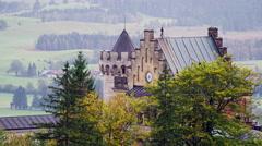 Neuschwanstein Castle in Schwangau, Germany, 4K Stock Video Footage Stock Footage