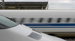 Shinkansen Train at Shizuoka Station Stock Footage