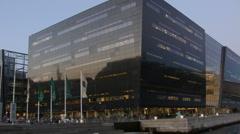 0595 Public Library of Copenhagen. Stock Footage