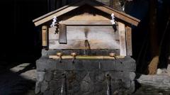 Water Fountain in Naraijuku, Japan Stock Footage