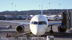 Time lapse airplane baggage handler airport - 1080p Stock Footage