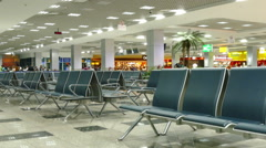 Waiting lounge in international airport of Hurghada, Egypt Stock Footage