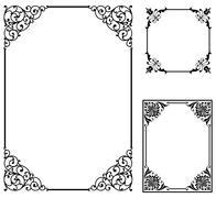 Scroll Frames Stock Illustration