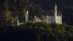 Neuschwanstein Castle in Schwangau, Germany in the Alps 4K Stock Video Footage Stock Footage