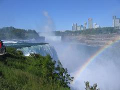 Rainbow at Niagara Falls  (USA) - stock photo