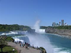 View over Niagara Falls in USA - stock photo