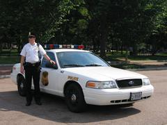 Policecar near the White House in Washington DC (USA) Kuvituskuvat