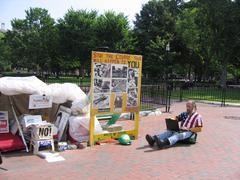 Protest by White House in Washington  (USA) Kuvituskuvat