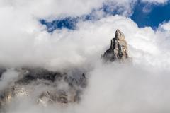 mountain pale di san martino - stock photo